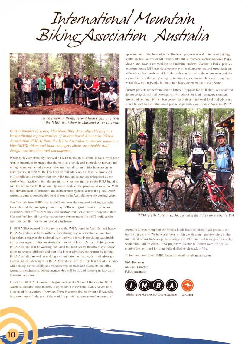 IMBA Article